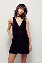 Free People Womens SUEDE DRESS
