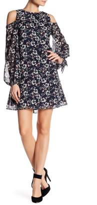 Vince Camuto Cold Shoulder Floral Dress (Regular & Plus Size)