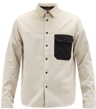 Rag & Bone Franklin Contrast-pocket Cotton-twill Shirt - Mens - Beige Multi