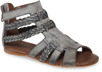 ROAN Willa Braided Leather Gladiator Sandal