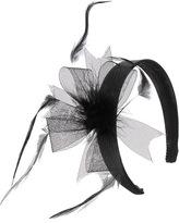 Satin Headband w/ Feather Bow