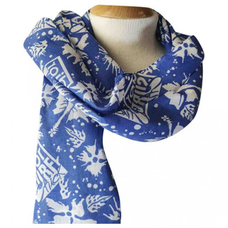 Christian Dior Blue Cotton Scarves