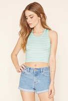 Forever 21 FOREVER 21+ Striped Cropped Tank