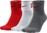 Nike Dri-FIT Mens 3-pk. Fly Rise Quarter-Socks