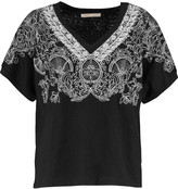 Maje Embroidered linen top