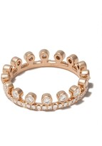 De Beers 18kt rose gold Dewdrop one line diamond pave band