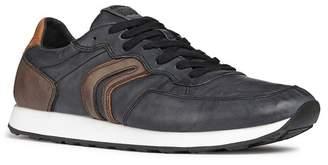 Geox Vincit Leather Low Top Sneaker