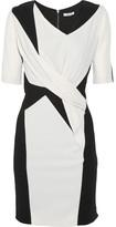 Paneled crepe-jersey dress