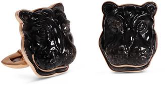 Jorge Adeler Labradorite Hippo 18K Rose Gold Cufflinks