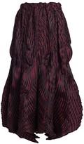 Issey Miyake Winding Pleats Midi Skirt