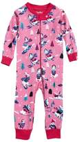 Hatley Infant Girl's Snow Bunny Waffle Knit Organic Cotton Fitted One-Piece Pajamas