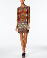 Sandra Darren Paisley-Print Shift Dress