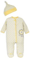 Offspring Girls' Sunny Floral Footie & Hat Set - Baby