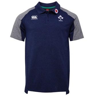 Navy New Ireland Rugby Canterbury Men/'s Cotton Pique Polo Shirt