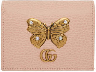 Gucci Pink Butterfly Bifold Wallet