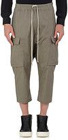 Rick Owens Men's Cotton-Blend Drop-Rise Crop Pants