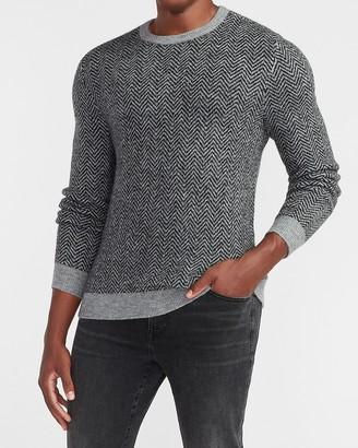 Express Herringbone Crew Neck Sweater