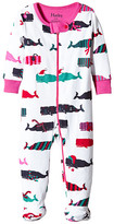 Hatley Scarf Whales Footed Coverall (Infant)