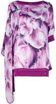 Roberto Cavalli silk floral kaftan
