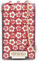 Zac Posen flower embellished crossbody bag - women - Calf Leather - One Size