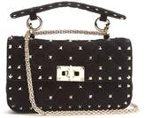 Valentino Rockstud Spike small quilted-suede shoulder bag