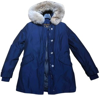 Woolrich Blue Cotton Coat for Women