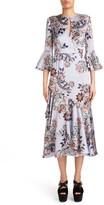 Erdem Women's Floral Print Silk Satin Dress