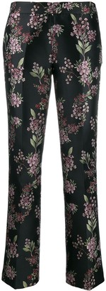 Giambattista Valli floral embroidered trousers