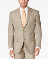Sean John Men's Tan Plaid Classic-Fit Jacket