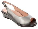 Taryn Rose Tellie Leather Wedge Sandal.