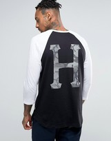 Huf 3/4 Sleeve Raglan With Back Print