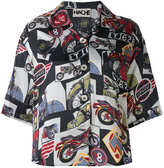 Hache bike print shirt - women - Viscose - 42