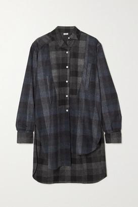 Loewe Checked Wool-flannel Shirt - Black
