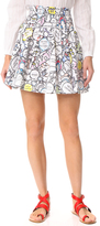 Mira Mikati Monster Print Miniskirt