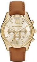 Michael Kors Lexington 44mm Leather Strap Watch