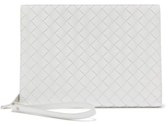 Bottega Veneta Intrecciato Medium Leather Document Holder - Mens - White