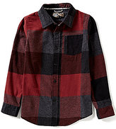 First Wave Big Boys 8-20 Buffalo Check Woven Shirt
