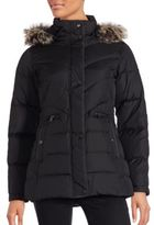 Larry Levine Faux Fur Trimmed Puffer Down Coat