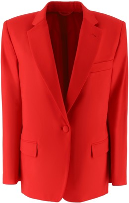 ATTICO Stretch Wool Long Blazer