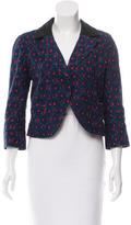 Anna Sui Printed Cropped Blazer