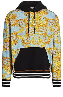 Versace Jeans Couture Denim Baroque Logo Hoodie