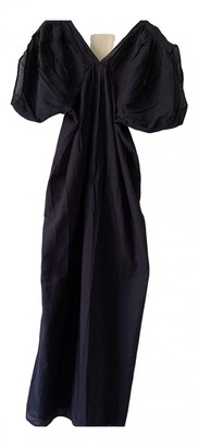 Thierry Colson Navy Cotton Dresses
