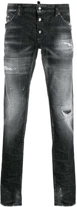 DSQUARED2 Ripped Low-Rise Slim-Fit Jeans