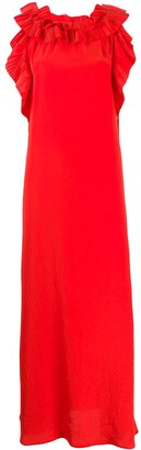 P.A.R.O.S.H. ruffle-neck gown