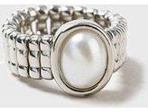 Dorothy Perkins Womens Pearl Stretch Ring- Cream