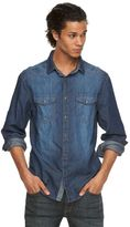 Rock & Republic Big & Tall Denim Button-Front Shirt