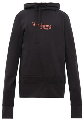 Ann Demeulemeester Grimm Twisted Cotton Hooded Sweatshirt - Mens - Black