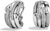 David Yurman Labyrinth Double-Loop Earrings with Diamonds
