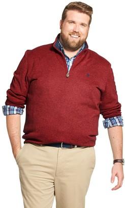 Izod Big & Tall Essential Quarter-Zip Pullover