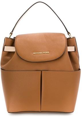 MICHAEL Michael Kors Bedford contrast-trimmed backpack